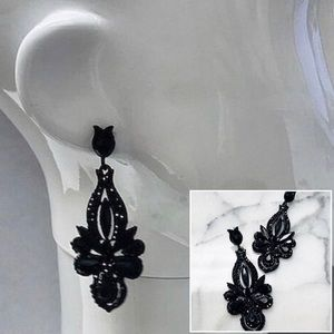 """Drop-Dead"" Gorgeous Jet Black Crystal EarringsNWT"